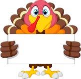 Cute turkey cartoon vector illustration