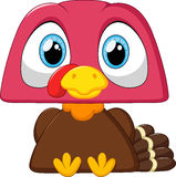 Cute turkey cartoon Royalty Free Stock Image