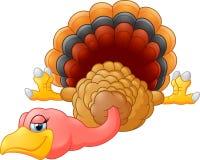 Cute turkey cartoon stock illustration