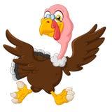 Cute turkey running royalty free illustration