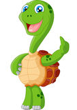 Cute turtle cartoon giving thumb up Royalty Free Stock Photo