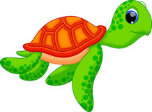 Cute turtle cartoon. Illustration of cute turtle cartoon Royalty Free Stock Photos