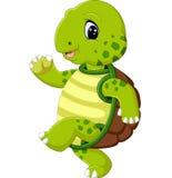 Cute turtle cartoon. Illustration of cute turtle cartoon Stock Photo