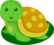 Cute Turtle Cartoon. Isolated Vector Stock Photography