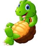 Cute turtle cartoon posing Stock Photography