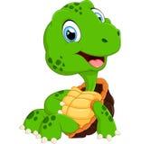 Cute turtle cartoon posing Stock Image