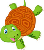 Cute turtle cartoon standing with hand Stock Photo