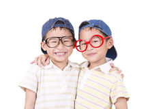 Cute twin  smiling Royalty Free Stock Images