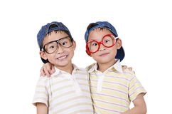 Cute twin  smiling Stock Image