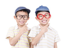 Cute twin  smiling Royalty Free Stock Image