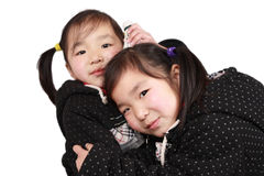 Cute twins royalty free stock images