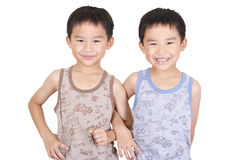 Cute twins smiling Stock Photography