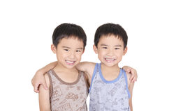 Cute twins smiling Royalty Free Stock Photography