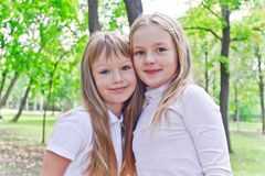 Cute two girls Stock Images