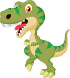 Cute tyrannosaurus cartoon Stock Image