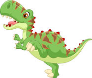 Cute tyrannosaurus cartoon Royalty Free Stock Photos