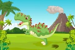 Cute tyrannosaurus cartoon Royalty Free Stock Photography
