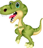 Cute tyrannosaurus cartoon waving hand Royalty Free Stock Image