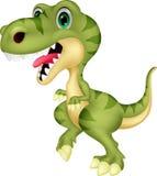 Cute tyrannosaurus cartoon waving hand Royalty Free Stock Image