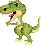 Cute tyrannosaurus cartoon waving hand Stock Photos