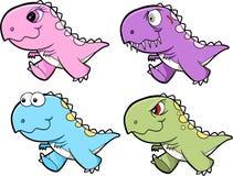 Cute Tyrannosaurus Rex Dinosaur Set Royalty Free Stock Images