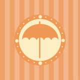 Cute umbrella background Stock Photos