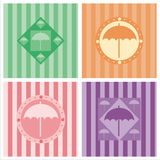 Cute umbrella backgrounds Stock Photos