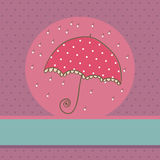 Cute Umbrella card Royalty Free Stock Photos