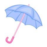 Cute umbrella cartoon. Isolated illustration on white background Royalty Free Stock Photography
