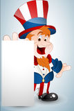 Cute Uncle Sam Banner Royalty Free Stock Photography