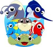 Cute Under Sea Animal Set Stock Photography