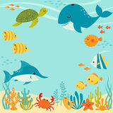 Cute underwater design Stock Photo