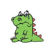 Cute unhappy dinosaur. vector illustration. Royalty Free Stock Image