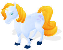 Cute unicorn. Clipping path included Royalty Free Stock Photo