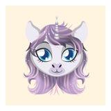 Cute unicorn avatar Stock Images