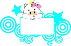 Cute unicorn baby girl copyspace Stock Photo