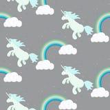Cute unicorn child seamless pattern. Royalty Free Stock Photography