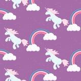 Cute unicorn child seamless pattern. Royalty Free Stock Image