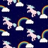 Cute unicorn child seamless pattern. Royalty Free Stock Photo
