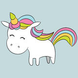 Cute unicorn. Royalty Free Stock Photography