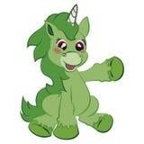 Cute Unicorn 3. Cute joyful playful unicorn pony Royalty Free Stock Photo
