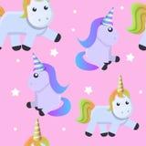 Cute unicorn pattern, cartoon style. Cute unicorn pattern. Cartoon illustration of cute unicorn vector pattern for web design royalty free illustration