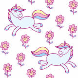 Cute unicorn pattern vector illustration