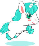 Cute Unicorn Pegasus.  Stock Photo