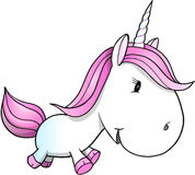 Cute Unicorn Pony Vector Illustration Royalty Free Stock Image