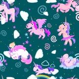 Cute unicorn seamless pattern Stock Image