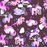 Cute unicorn seamless pattern Royalty Free Stock Photo