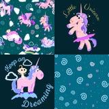 Cute unicorn seamless pattern Royalty Free Stock Images