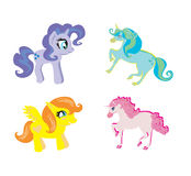Cute unicorn set Royalty Free Stock Photo