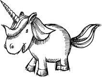 Cute Unicorn Sketch Doodle Vector Royalty Free Stock Photo